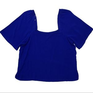 A New Day Size XL Blue Square Neck Top